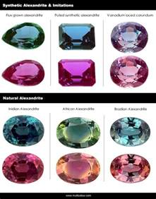 color changing stones what is the difference between synthetic and real