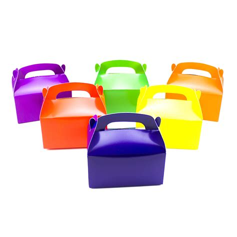 treat box 12 assorted bright color treat boxes birthday favors