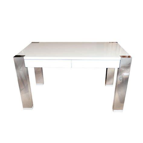 white lacquer desk white lacquer and chrome desk by o brien for