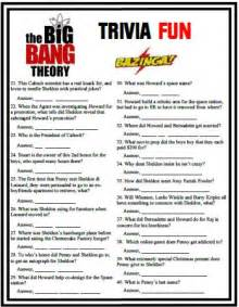 big bang theory trivia is based on seven years of choice
