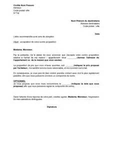 lettre 224 un acheteur d un immobilier acceptant sa
