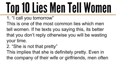 10 Lies He Will Tell by Awesome Quotes Top 10 Lies Tell