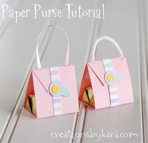 How To Make Handbag With Paper - paper purse with hersheys nugget