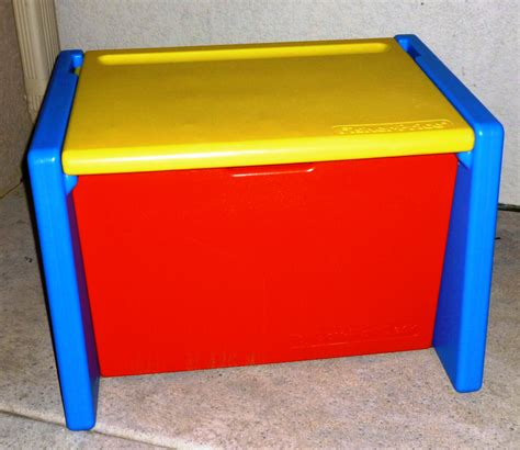 fisher price 2 desk vintage fisher price box that doubles as a desk 1991