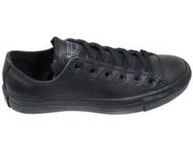 converse mens shoes ox low black mono leather landau store