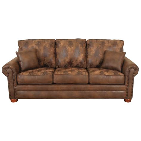 Lodge Sofa by 8001 Lodge Sofa By Bestcraft Furniture The Log Furniture