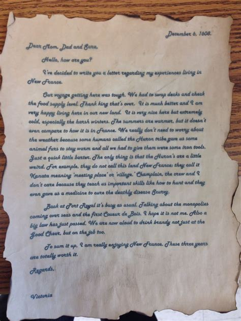 Writing A Business Letter Grade 6 grade 7 history assignment students write a letter