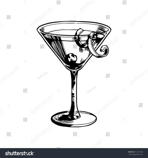 manhattan drink illustration berry manhattan cocktail vector illustration stock vector