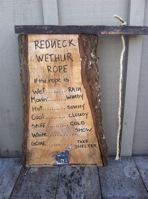 redneck home decor redneck weather rope funny home decor handmade wooden