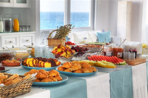 breakfast buffet in paros paros luxury hotel