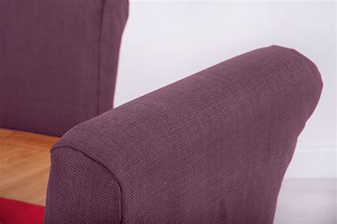 dining chair seat protectors set of 4 set of 4 purple fabric dining chair covers for scroll top