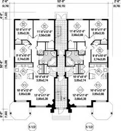 two family floor plans multi family plan 52764