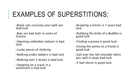 bad luck superstitions anomalistic psychology superstitions