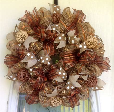 1000 ideas about fall mesh wreaths on pinterest mesh