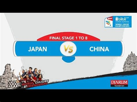 blibli wjc 2017 blibli com wjc 2017 final stage 1 to 8 japan vs china