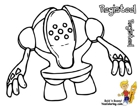 pokemon registeel coloring pages regirock colouring pages