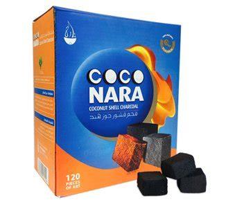 coco nara 120 pieces coco nara charcoal natural coconut hookah