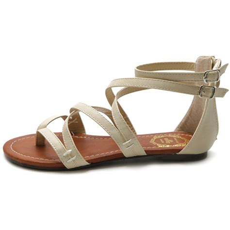 ollio s shoes gladiator flats zori sandals