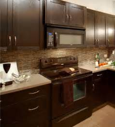 kitchens with dark cabinets and tile floors t light