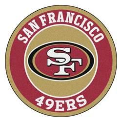 san francisco 49ers logo roundel mat 27 quot round area rug