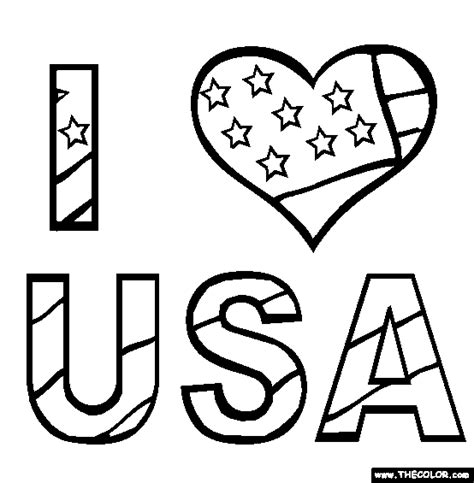 i love usa coloring page free i love usa online coloring