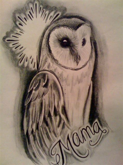 barn owl tattoo designs barn owl by kirzten on deviantart