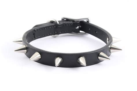 spikes dogs spiked leather collar size s