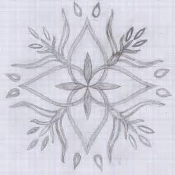 design drawing how to draw a flower on graph paper flower design on