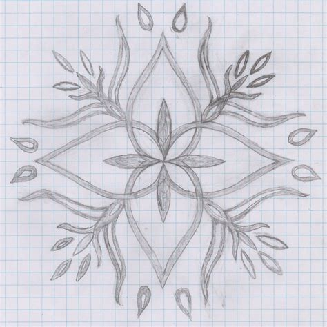 Flower With Chart Paper - how to draw a flower on graph paper flower design on