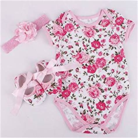 pattern matching clothes amazon com rose pattern romper clothes headband shoes set