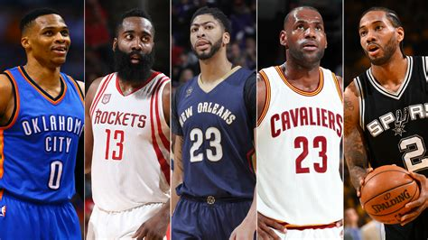 nba standings russell westbrook james harden lebron james lead 2016 17