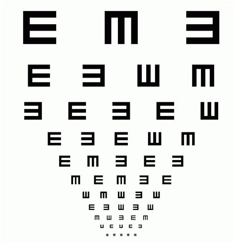 printable medical eye chart eye charts and printable