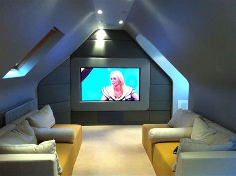 hmm  media cinema room   attic attic rooms