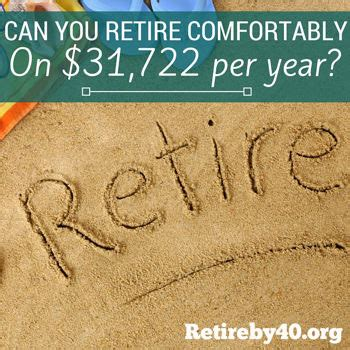 how to retire comfortably can you retire comfortably on 31 722 per year