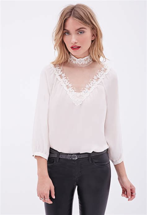 High Neck Blouse In by Fashion Trends 2k15 2 Orchids