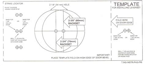 Deadbolt Template by Schlage Deadbolt Diagram Schlage Deadbolt Parts Breakdown