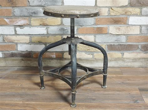 wood and metal stools rustic metal bar stool with adjustable wooden seat