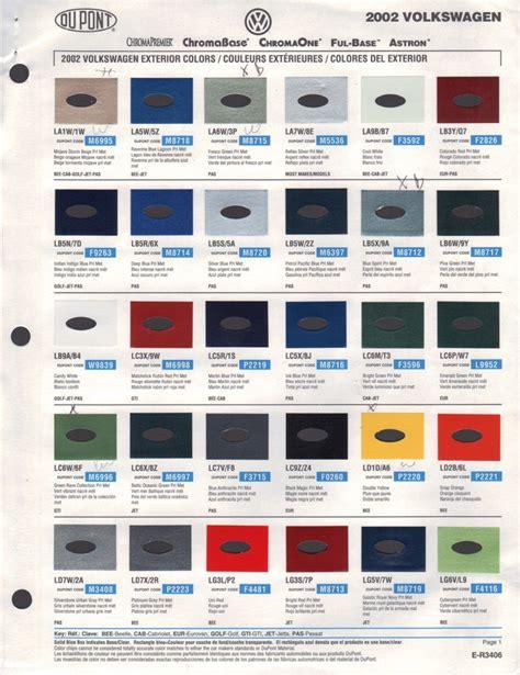 paint chips 2002 volkswagen beetle