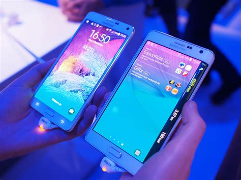 Samsung Galaxy Note 4 And Galaxy Note Edge Unleashed At Ifa 2014 In Pictures Samsung Galaxy Note Edge Vs Note 4 Android Central
