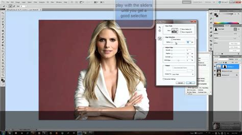 photoshop cs5 tutorial remove background hair adobe photoshop cs5 change background color youtube