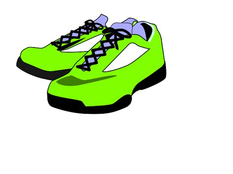 tennis shoe clipart free clipartsgram
