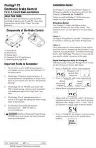 prodigy p2 90885 general brake controller installation information