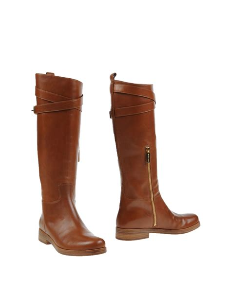 michael kors brown boots michael kors boots in brown lyst