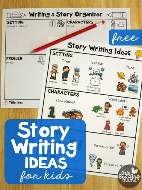 themes list read it write it tell it story writing ideas for kids free pack this reading mama