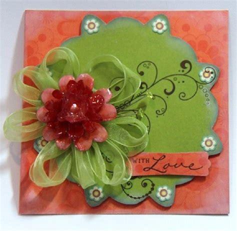 Handmade Flowers For Cards - bobunny july card challenge handmade flowers