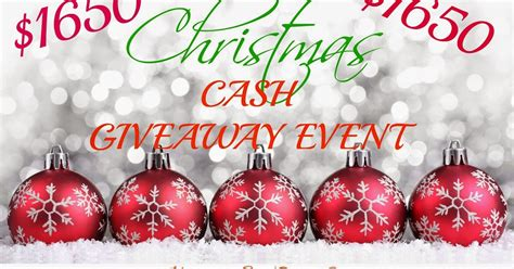 Good Giveaways For Events - 1650 christmas cash giveaway event love bakes good cakes
