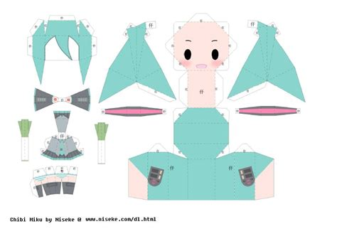 Hatsune Miku Papercraft - hatsune miku papercraft by alicekawaiidesu on deviantart