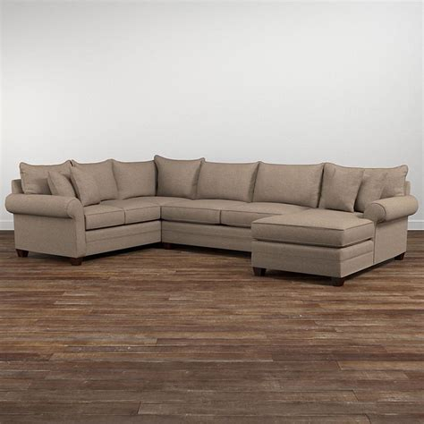 u sectional sofas alex u shaped sectional sofa living room bassett furniture