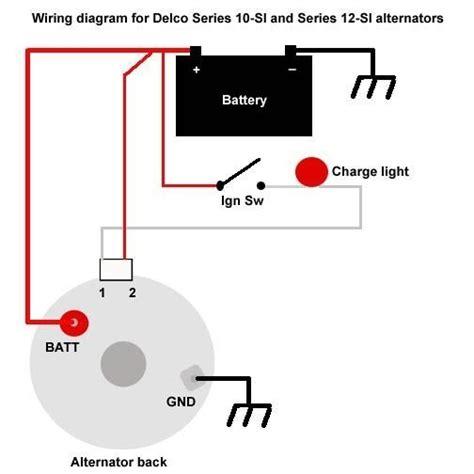 delco remy 3 wire alternator wiring diagram wiring