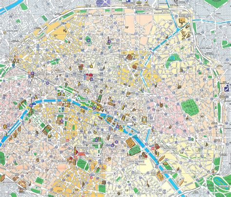 printable street map paris paris map detailed city and metro maps of paris for